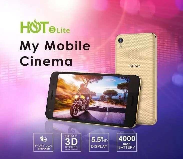Latest Infinix phone- Infinix Hot 5 Lite