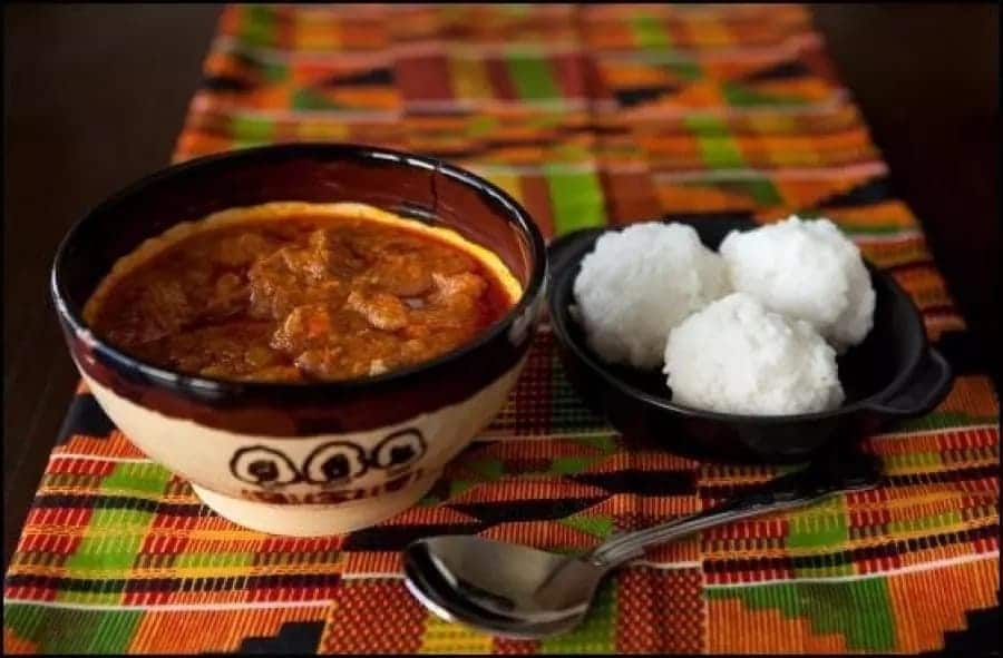 Omotuo and soup