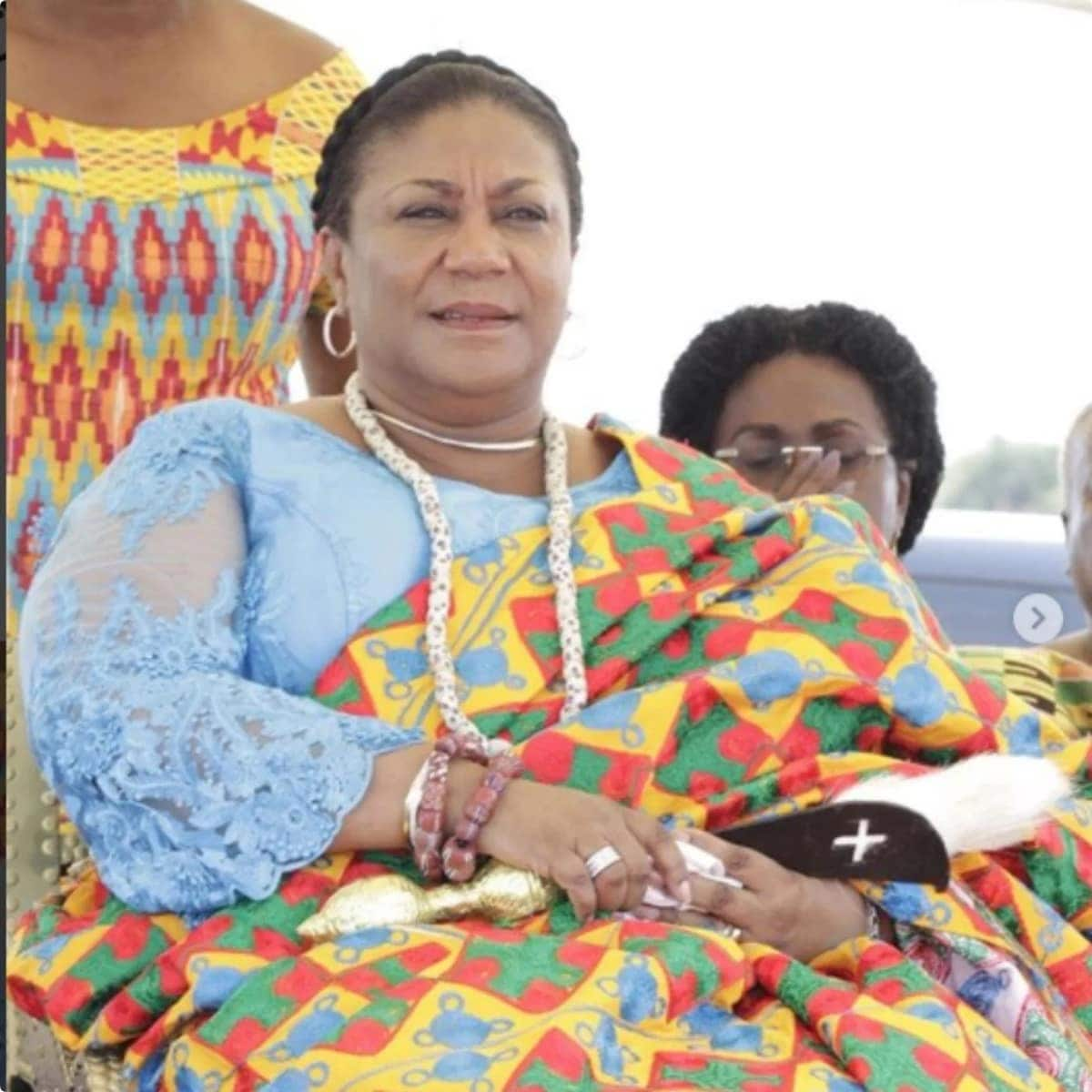 Rebecca Akufo-Addo gets enstooled as queen in Ningo Traditional Area