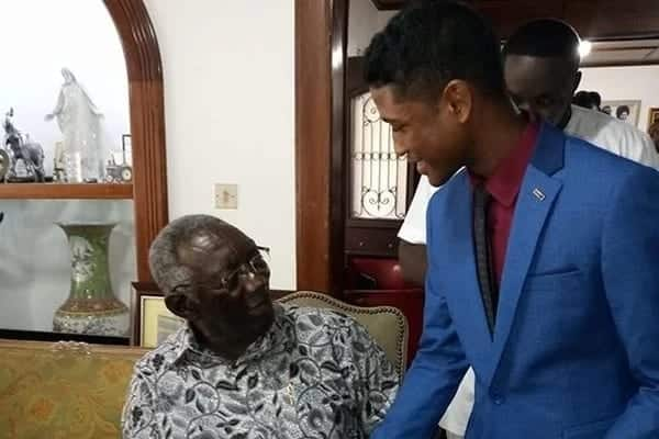 Rahim Banda with former President Kufuor when his appointment was made