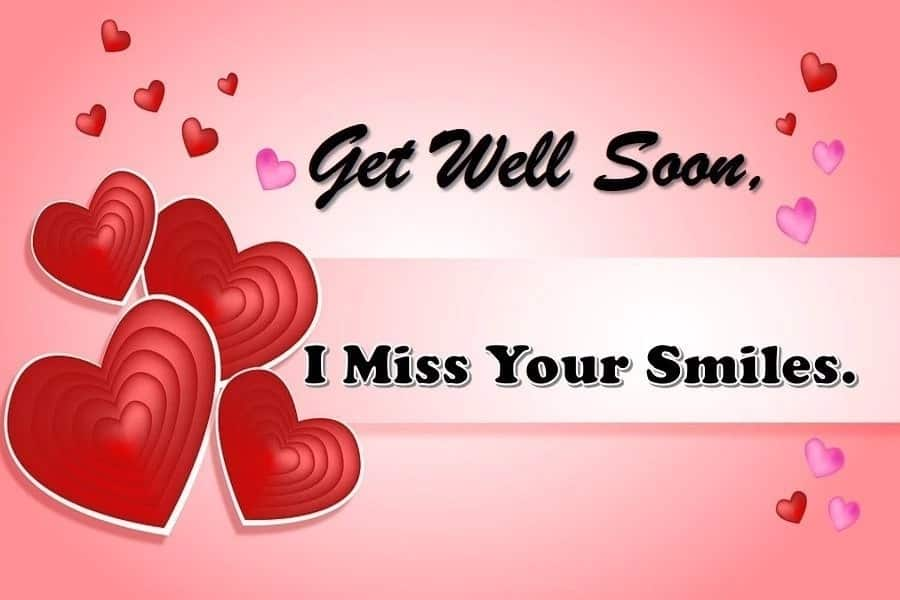 Get well soon message for her