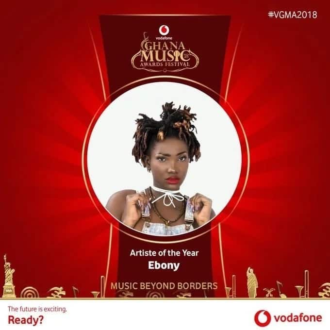 Ebony Reigns wins 2018 VGMAs Artiste of the Year