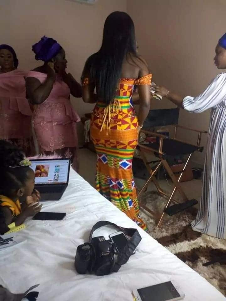 Stunning photos of Titi during the marriage of her parents