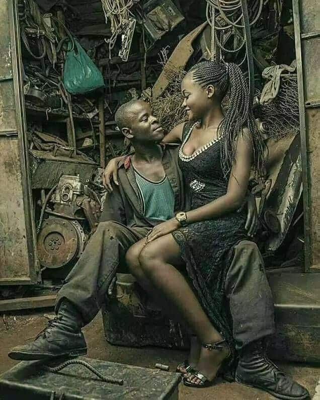 Mechanic and his girlfriend warm hearts on social media with their awesome pre-wedding photos