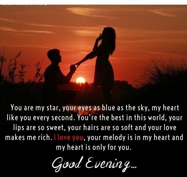 50 Inspirational Good Evening Love Messages