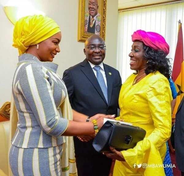 Samira and Dr Bawumia met former First Lady Nana Konadu Agyemang-Rawlings