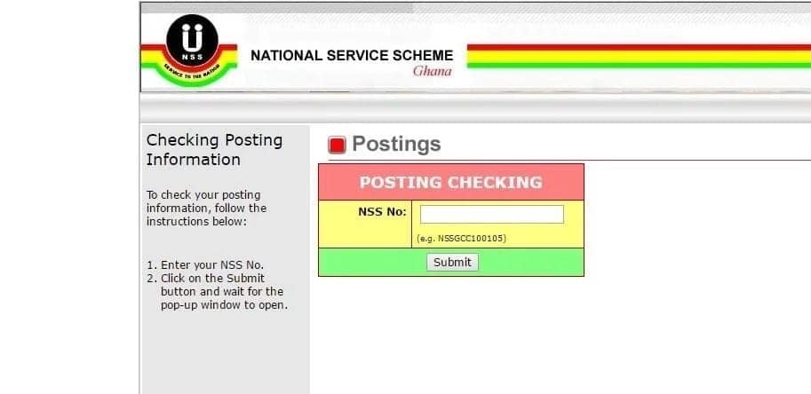 nss posting appointment letter