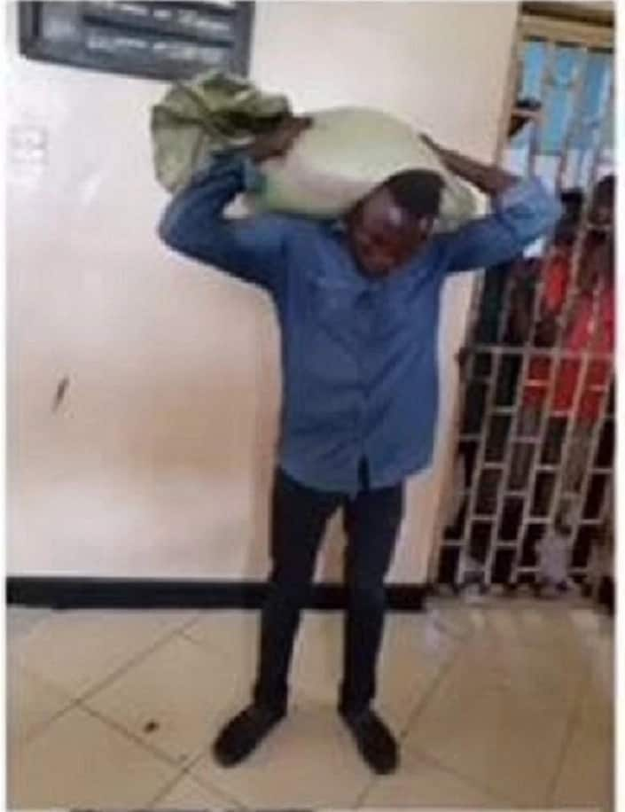 A man holding a bag