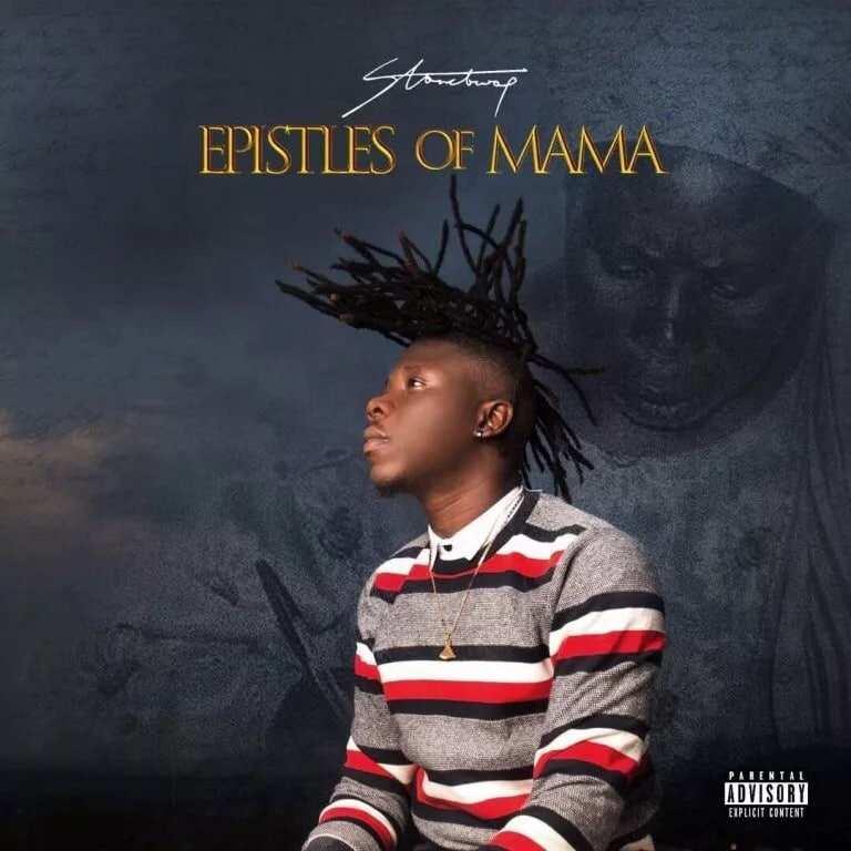 The cover of Stonebwoy's album, Epistles of Mama
