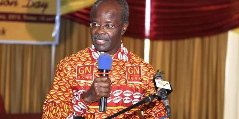 Dr. Papa Kwesi Nduom speaking at a press conference