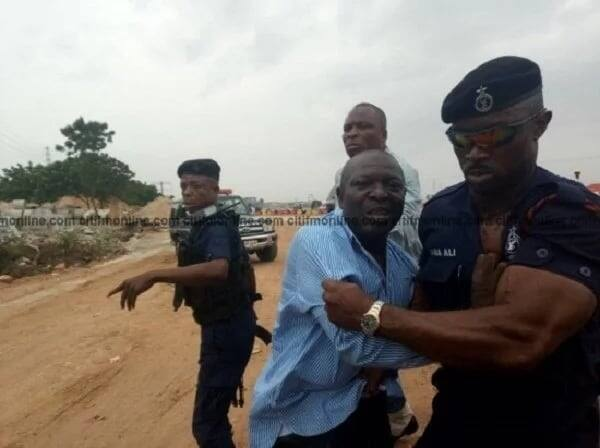 Police arrest three for attacking Roads Minister (Photos)