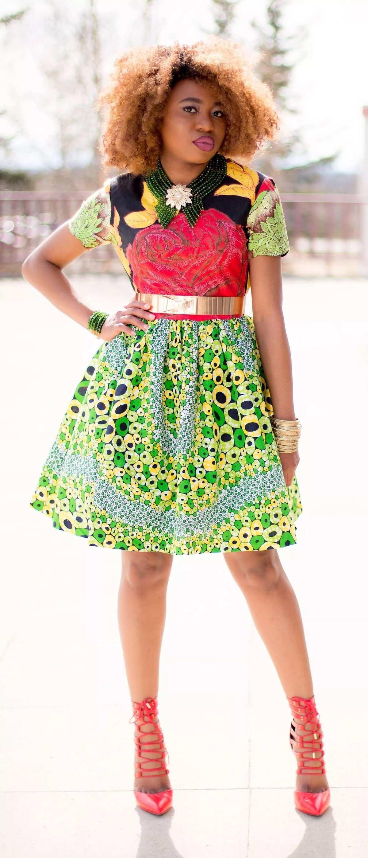 polished cotton dresses, polished cotton dress styles, polish cotton styles in ghana