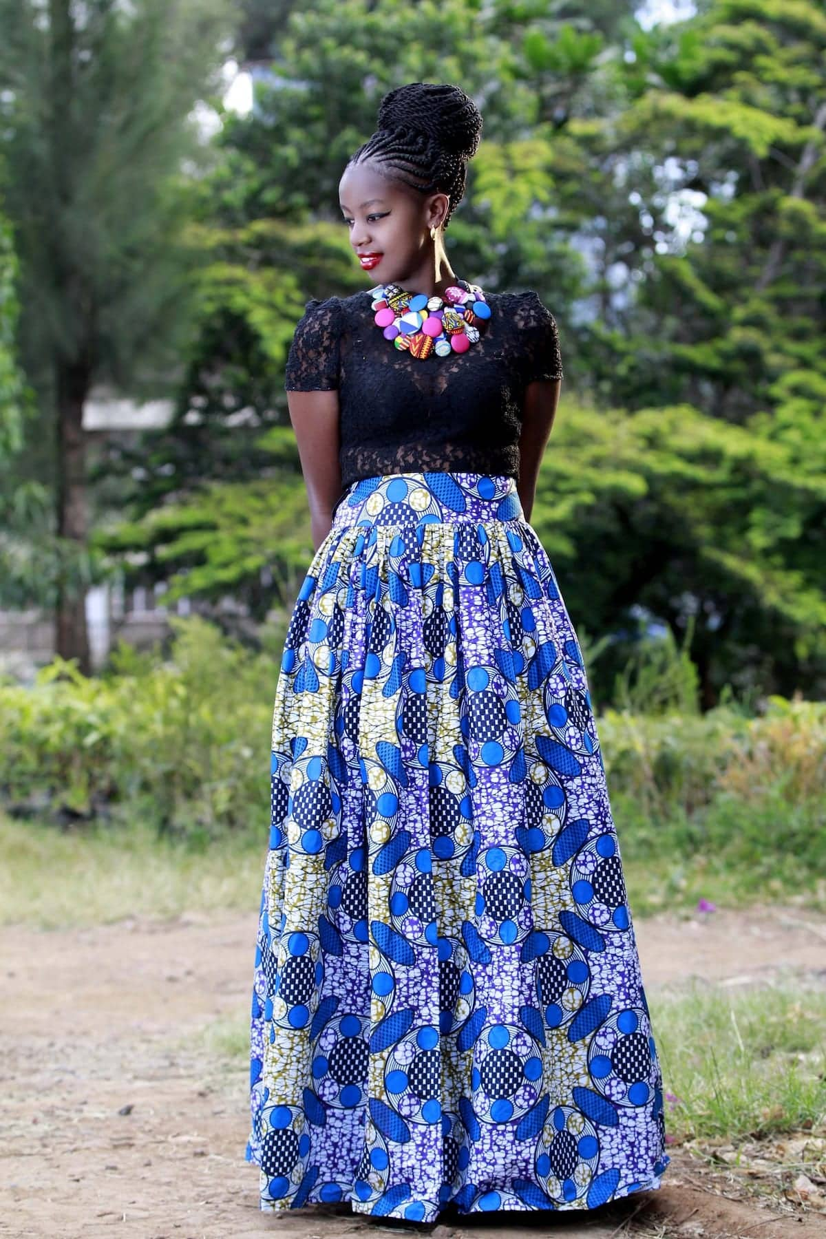 African dresses with lace top