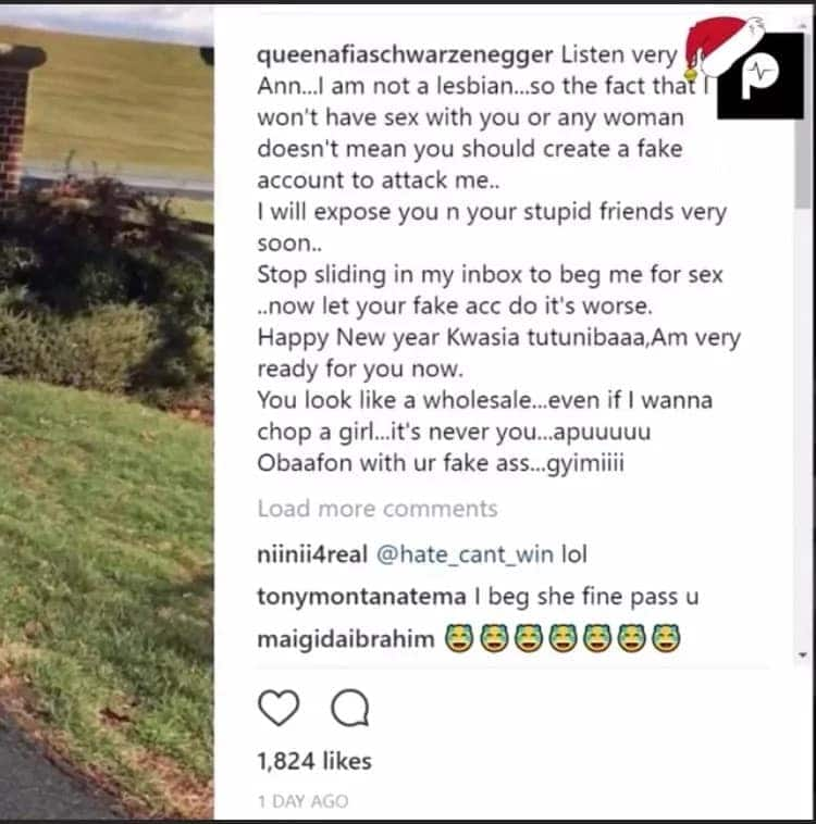 Photo of popular lesbian who attacked Afia Schwar for rejecting her love proposal relationship revealed; Afia vows to deal with her