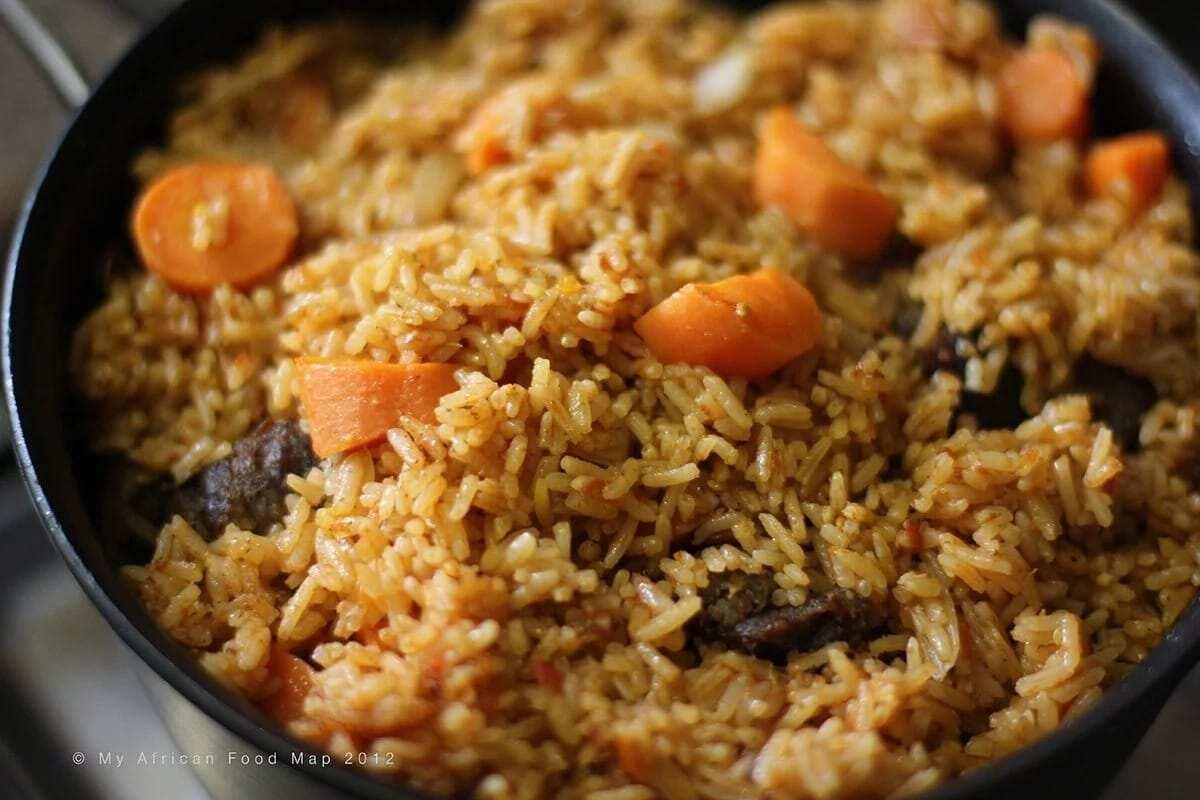 Traditional Ghanaian Jollof Rice Recipe