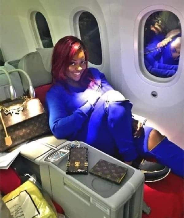 Actress Jackie Appiah lands in Toronto in a stunning all blue photos