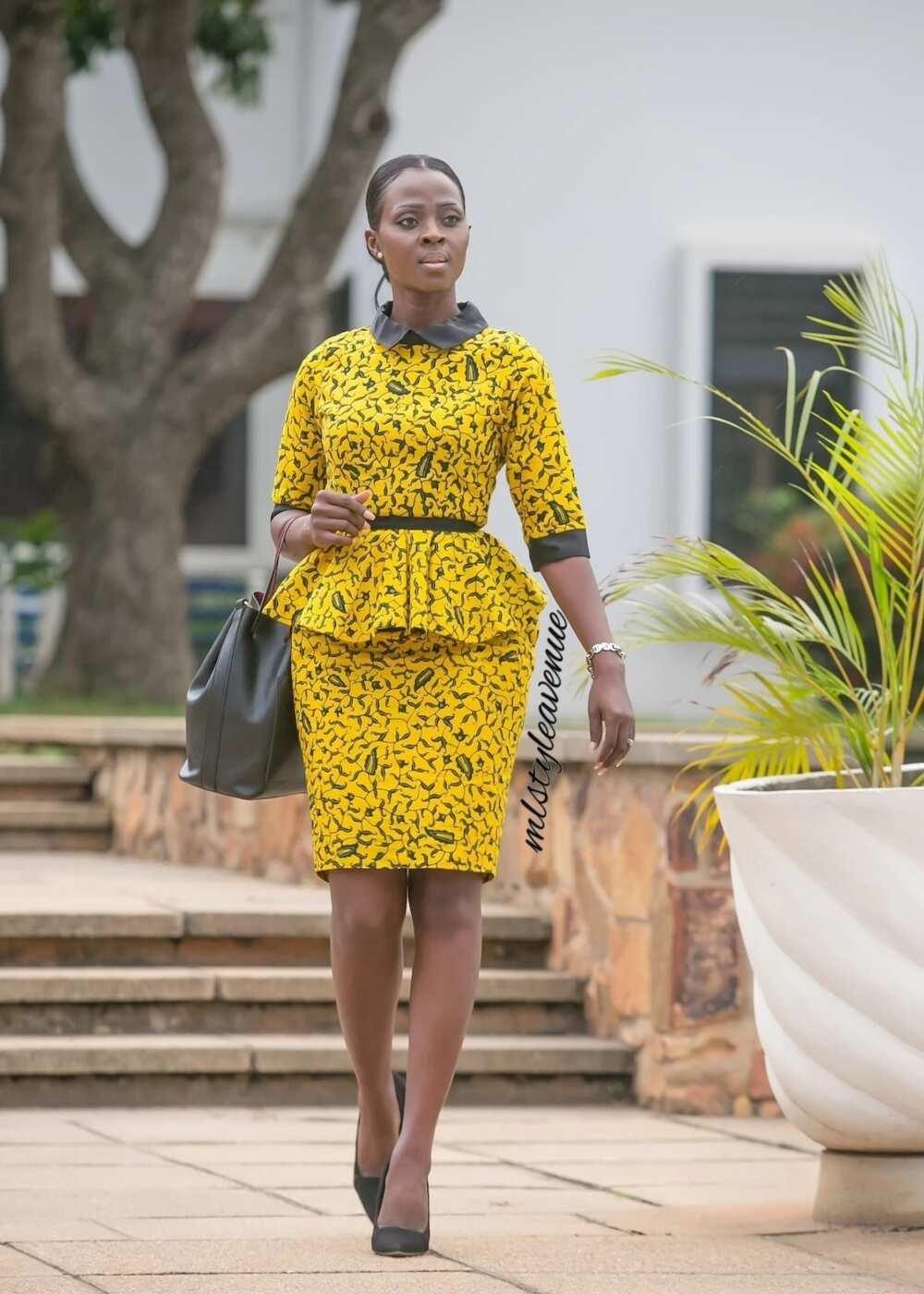5fbe8db5b053d4 The Peplum Ankara dress. pretty short african dresses, short african print  dresses 2018, short african prom dresses