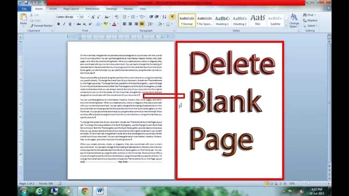 How to Delete a Page in Word Document