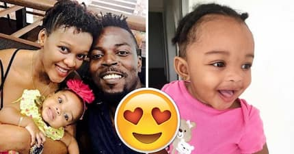 These photos of Kwaw Kese's wife and baby daughter are just too cute!