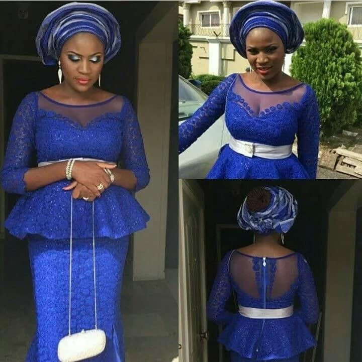 Latest lace kaba styles in Ghana