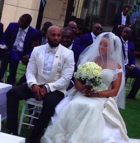 Aminu Atiku Abubakar and Akyia white wedding photos
