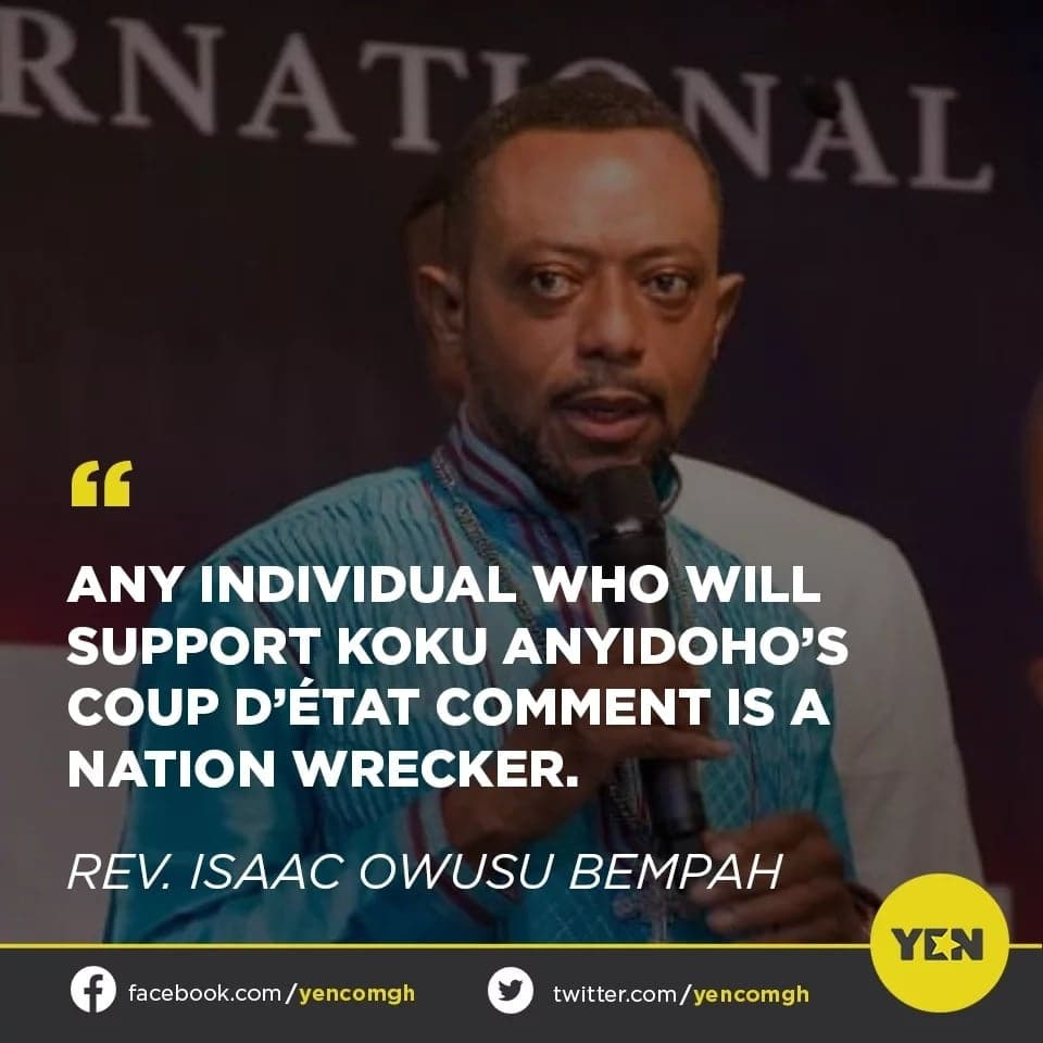 Social media users 'fire' Owusu Bempah over his comments after Koku Anyidoho's 'treasonable statement'