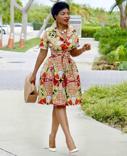 Fancy African print shirt designs