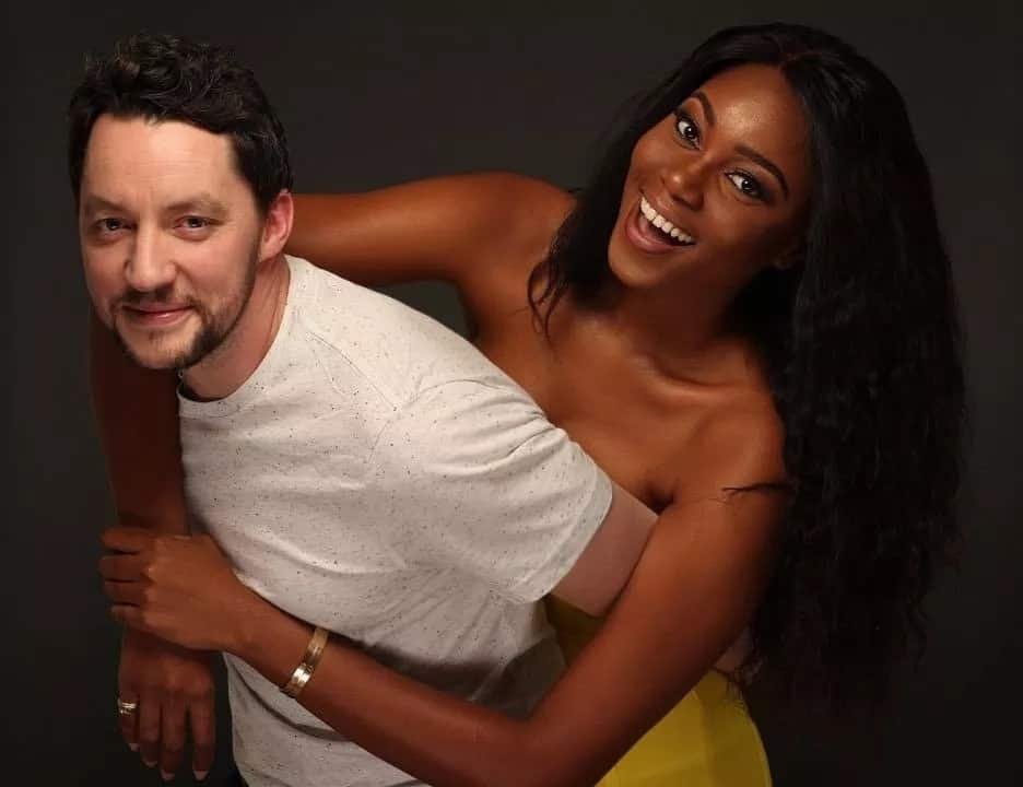 Yvonne Nelson and baby daddy Jamie Roberts in happy times