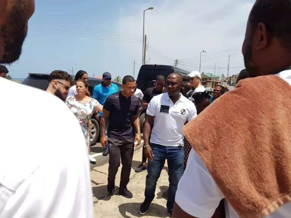 Ex-Man Utd forward visits Ghana for holidays