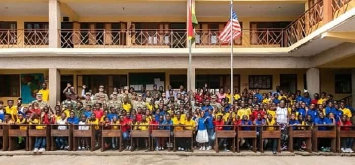 US soldiers donate desks, educational materials to schools in Ghana