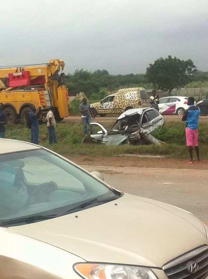 Tragic accident on Tema Motorway