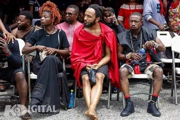11 'unusual dressing' captured at Ebony's funeral