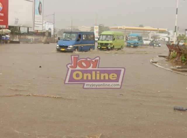 Tuesday morning rain floods parts of Accra
