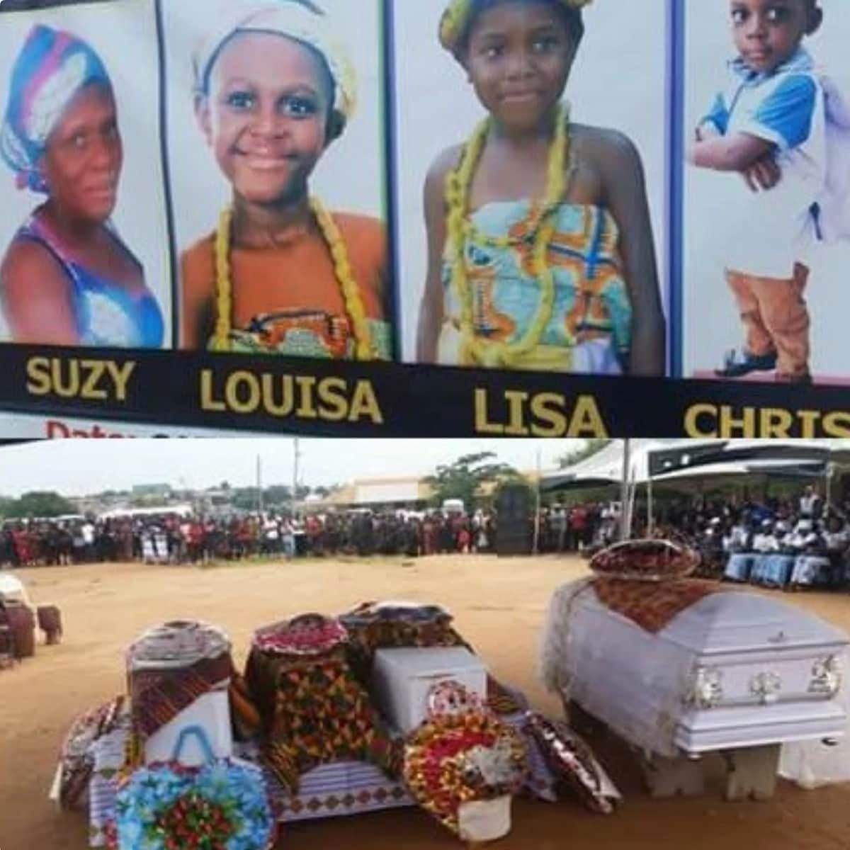 Final funeral rites held for 4 victims of Kumasi floods