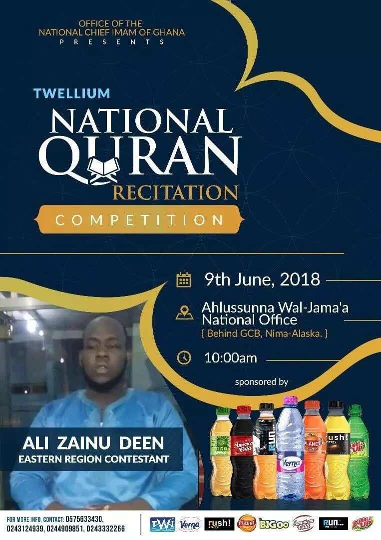 Twellium Qur'an quiz - Eastern Region Contestant gears up