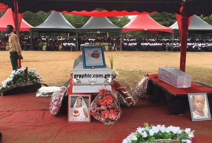 Tears flow at funeral of SDA pastor's wife killed by fire with 4 others