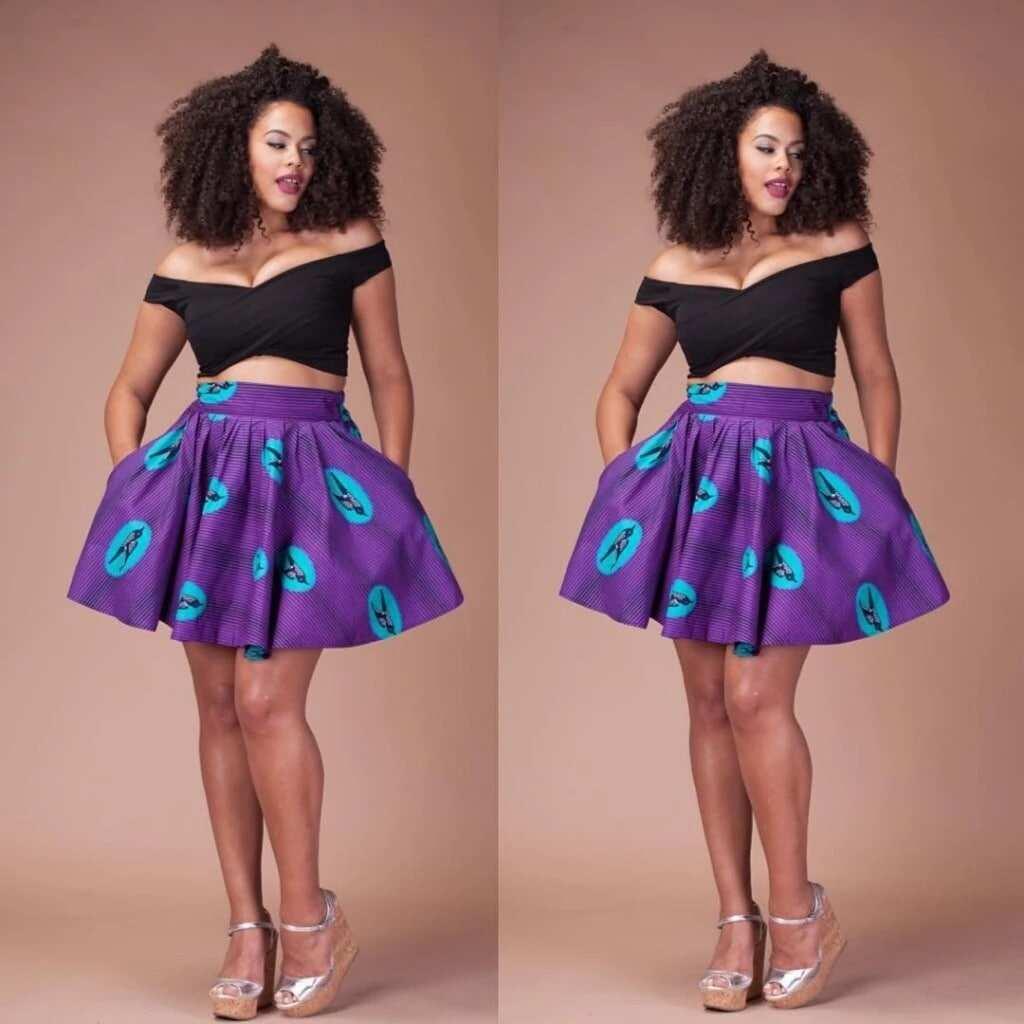 long african print skirts