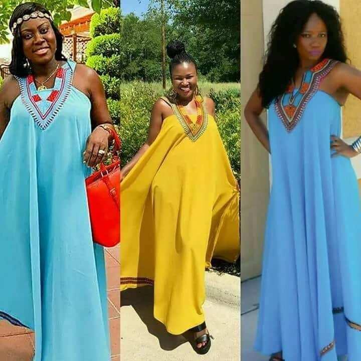 Latest Ghanaian Dresses- loose maxi dress