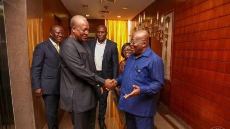 You said I am incompetent, see you now - Mahama trolls Akufo-Addo and Bawumia
