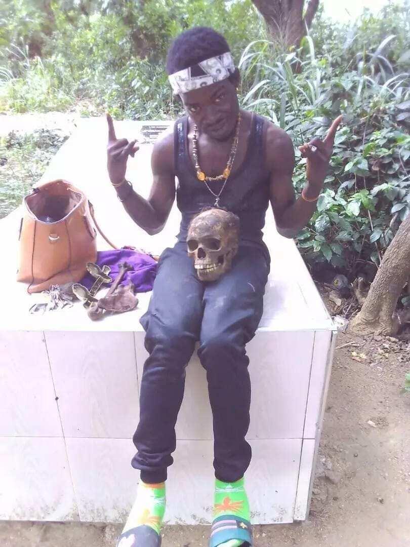 Sakawa man caught with human skull in C/R
