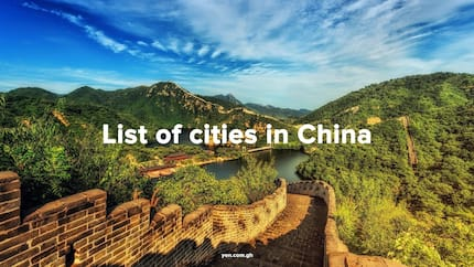 List of cities in China, size and population