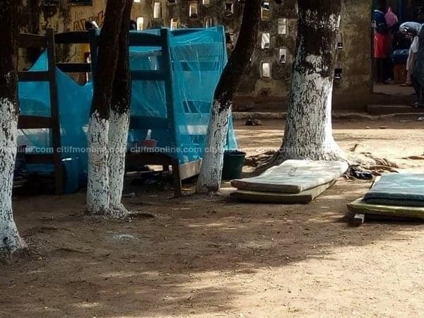 Students Tamale-based SHS sleep under trees due to congestion
