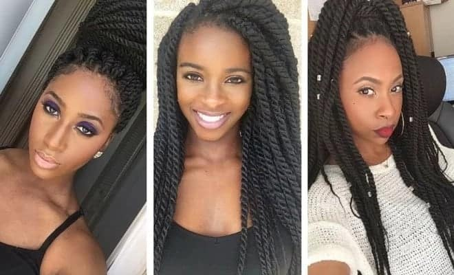 Beautiful Afro Twist Braids Hairstyles In 2019 Yen Com Gh