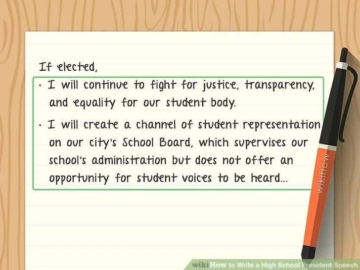 how to write a manifesto for a school prefect