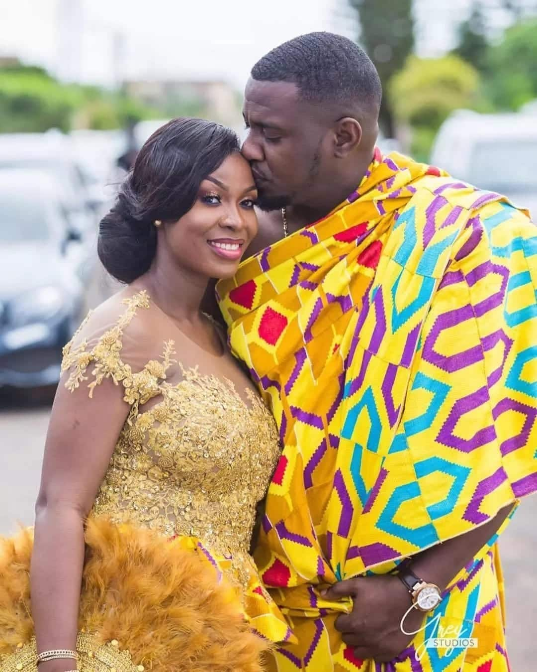 John Dumelo and his wife, Gifty Mawunya Dumelo