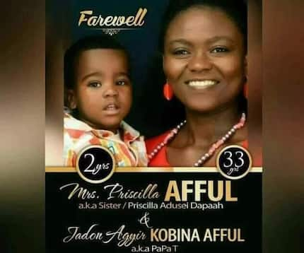 Ghanaians weep as mother and son who died in accident to be buried together