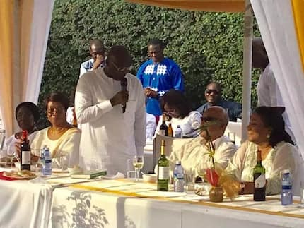 Second ever KNUST VC turns 99; has a blast with Rawlings, Bawumia & Rebecca (Photos)