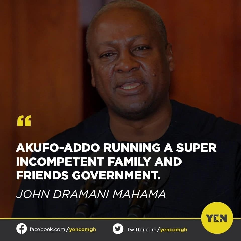 Social media users react to claims made by ex-president John Mahama about the NPP administration