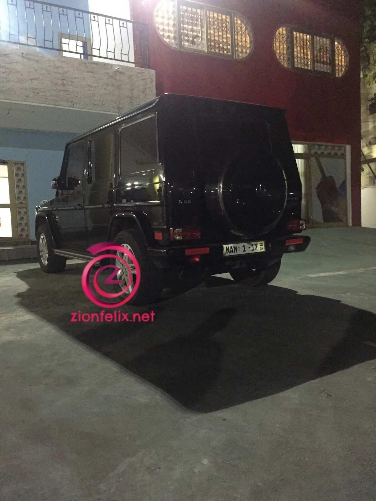 Rear view of a Black Mercedes Benz G Wagon