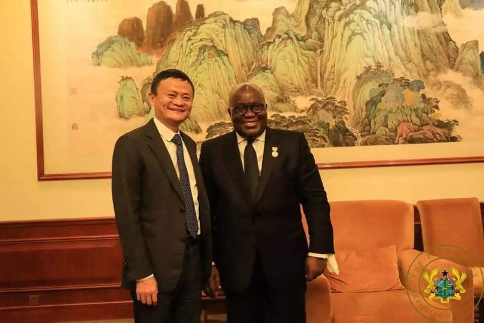 Nana Addo meets China's most richest man